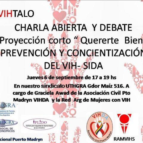 """Charla Abierta Y Cine Debate: """"Prevención Y Concientización Del VIH"""""""