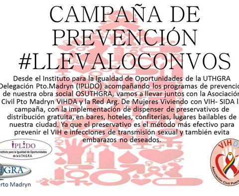 Campaña De Concientización Y Prevención #Llevaloconvos