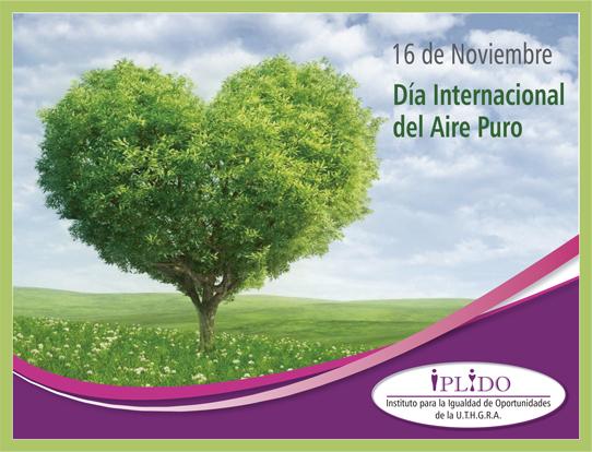 16 de noviembre. Día Internacional del aire puro