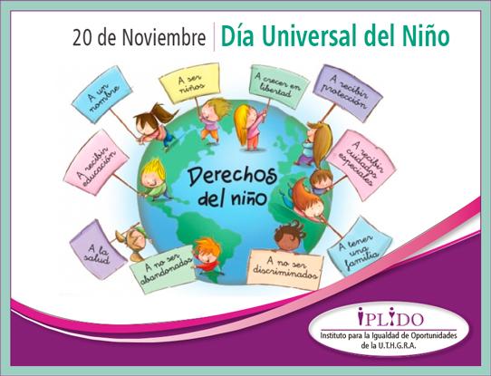 20 de noviembre. Día Universal del Niño