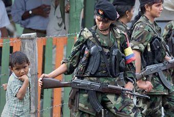 Niños reclutados por la Guerrilla Colombiana