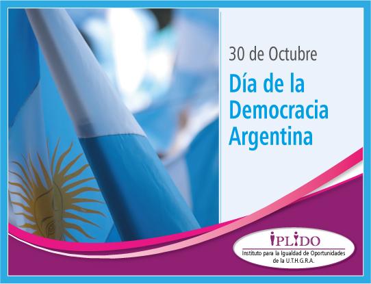 30 De Octubre. Día De La Democracia Argentina