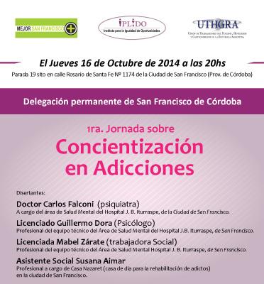 1ra. Jornada Sobre Concientización En Adicciones
