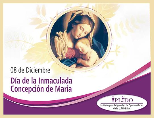 8 de diciembre. Día de la Inmaculada Concepción de María