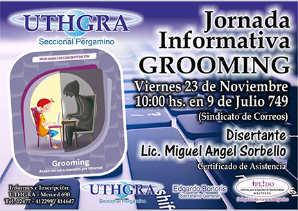 """Jornada Informativa Sobre """"Grooming"""""""
