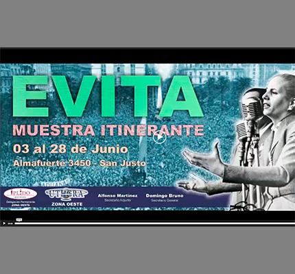 Muestra Itinerante En Conmemoración Del Centenario Del Nacimiento De Evita