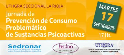 Delegación Permanente IPLIDO La Rioja. Jornada De Prevención De Consumo Problemático De Sustancias Psicoactivas